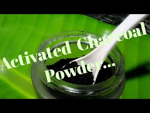 Home Made, How to make activated charcoal carban powder..