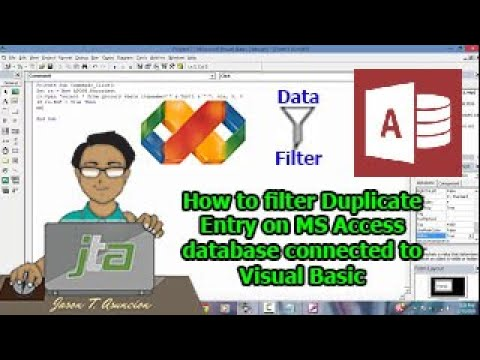 How to filter Duplicate Data Entry on MS Access connected to VB6.