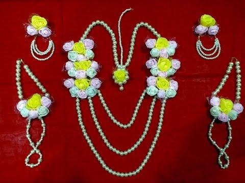Wedding Special/ Artificial flower jewellery for Haldi