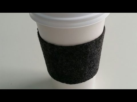 How To Make a Reusable Felt Coffee Cup Sleeve - DIY Home Tutorial - Guidecentral