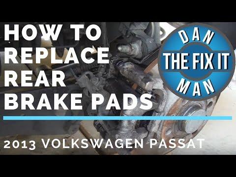 HOW TO REPLACE REAR BRAKE PADS 2013 VOLKSWAGEN PASSAT - DIY