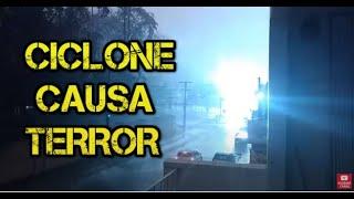 Ciclone bomba. Chegou com ventos de 100 km/h em Blumenau  30.06.2020