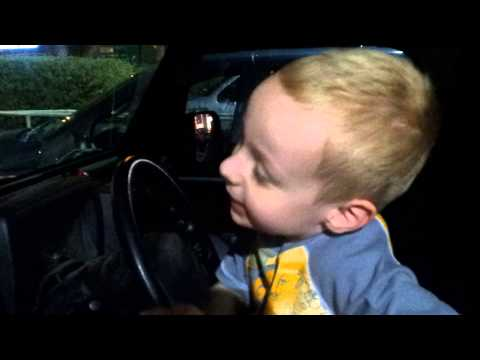 Zane driving stick shift in Daddy's Jeep