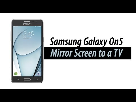 Samsung Galaxy On5 - How to Mirror Your Screen to a TV | H2TechVideos
