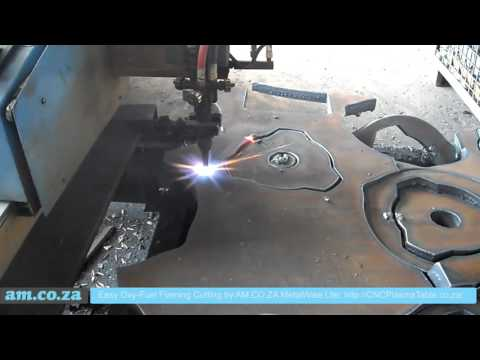 30mm Mild Steel Plate Cutting by Oxy-Fuel Flame Cutting on MetalWise CNC Plasma Cutting Machine