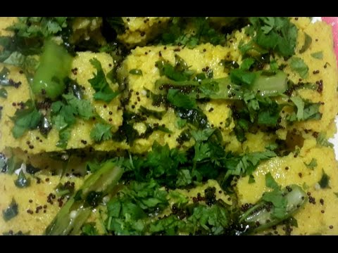 Quick dhokla in microwave (rava and besan)