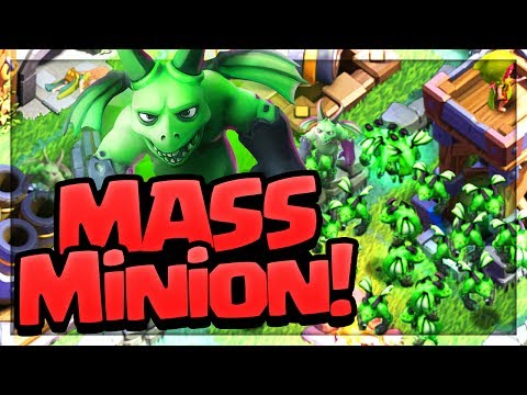 MASSIVE MINIONS! All Beta Minion Attacks on Clash of Clans Builder Hall Bases!