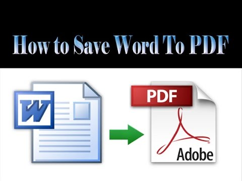 How to Save Word Document as PDF in Microsoft Office 2010 HD