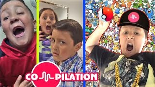 LIP SINGING COMPILATION Video: MIKE from FGTEEV & FUNnel Vision! Short Funny Song Clips Video 4 Kids