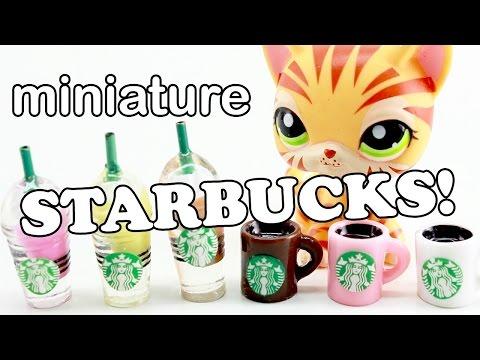 miniature starbucks frappuccino & coffee!