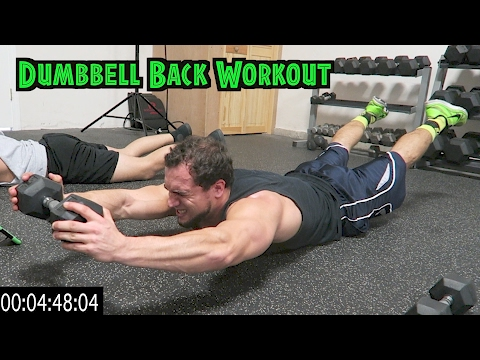 Intense 5 Minute Dumbbell Back Workout