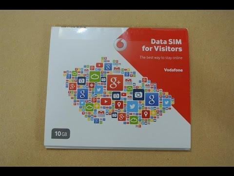 Data SIM for Visitors - Vodaphone Czech Republic Review