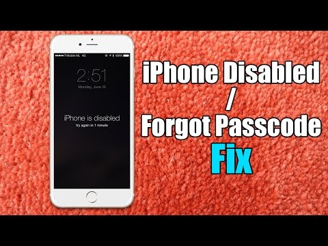 Iphone Disabled / Forgot Passcode iPhone Fix - Hard Reset for iPhone 6/5s/5c/5/4s