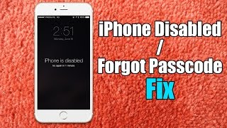 Iphone Disabled Forgot Passcode Iphone Fix Hard Reset For Iphone 65s5
