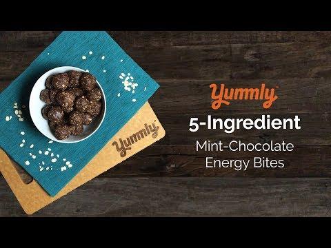 5-Ingredient Mint Chocolate Energy Bites