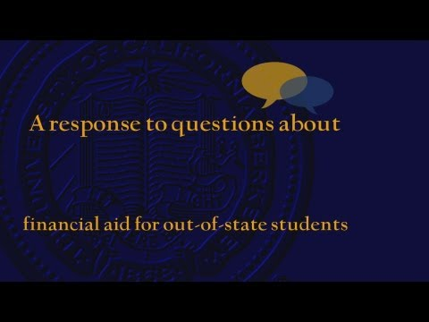 Financial Aid: Out-of-state Students