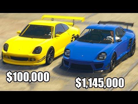 GTA 5 Online - COMET vs COMET SR! ($100,000 vs $1,145,000)