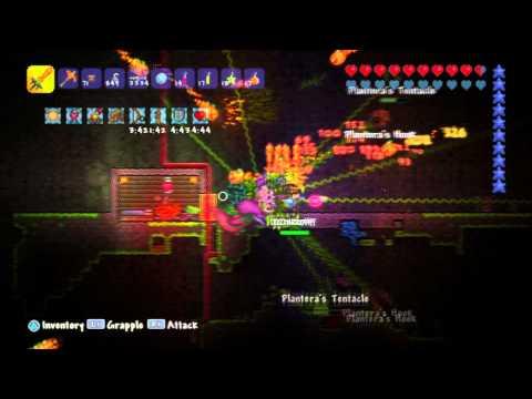Killing Plantera in Terraria for the PS3