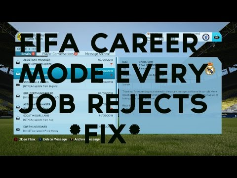 FIFA 16 CAREER MODE: EVERY JOB REJECTS *FIX*