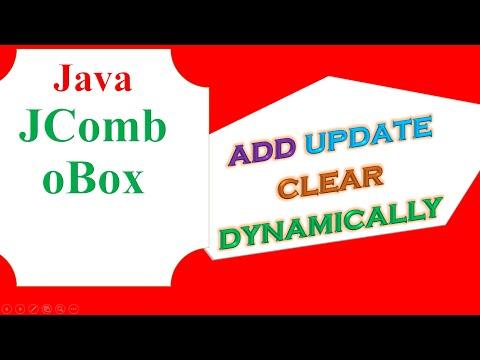 Java JComboBox  - Add Update Delete Clear dynamically