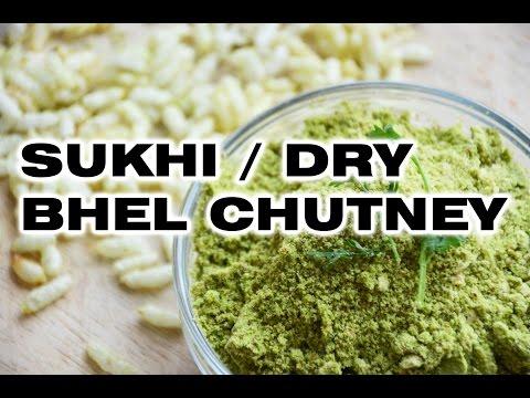 Sukhi Bhel Chutney / Dry Bhel Chutney / Vegetarian and Jain Recipe