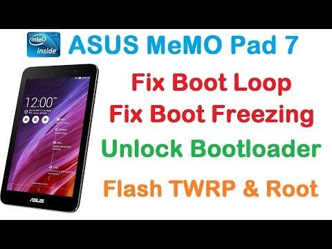 UNBRICK ASUS Memo Pad 7/FIX Boot Loop Freezing