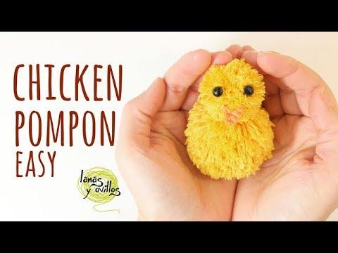 Tutorial Easy Chiken PomPom | Easy Kids Crafts