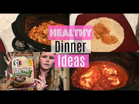 SLOW COOKER CHICKEN TACOS | EASY HEALTHY DINNER | MOM COLLAB