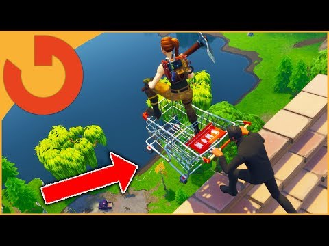 PLAYING *NEW* SHOPPING CART UPDATE ON FORTNITE! - Battle Royale Live