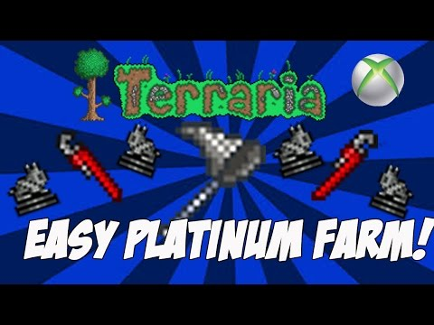 Terraria 1.2.4  Easy & Simple Platinum Farm Xbox One/PS4/Xbox 360 | OUTDATED FOR Terraria 1.3