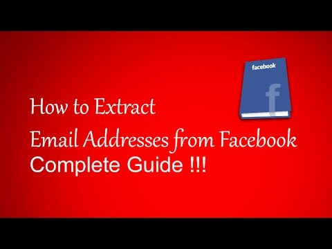 How to Extract Email IDs from Facebook for Free - Create Email Database with Free Tools