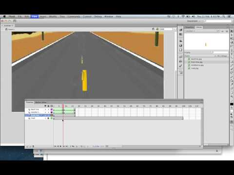 animating a road in flash