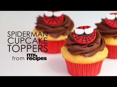 How to Make Spiderman Cupcake Topper | MyRecipes