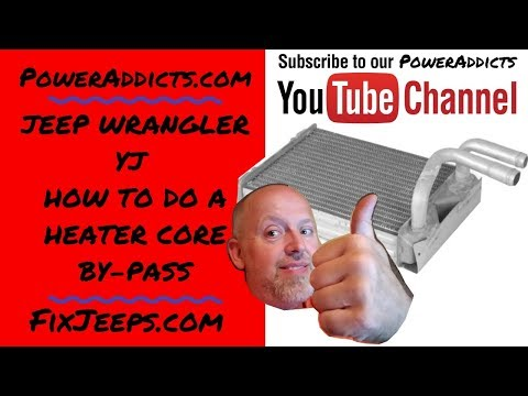 Jeep Wrangler YJ - How to do a heater core by-pass.