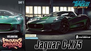 Jaguar C-X75 DAY 1 Warm-Up SK1LLMAST3RS Proving Grounds NFS