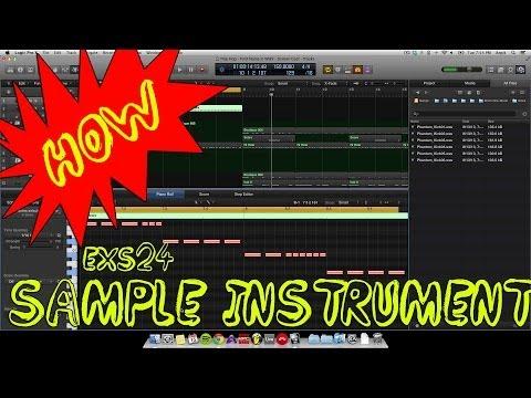How to make EXS24 Sampler Instrument in Logic X EastWest Beats Tutorial