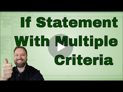 #8 Excel VBA (Macro) If Statement with Multiple Criteria