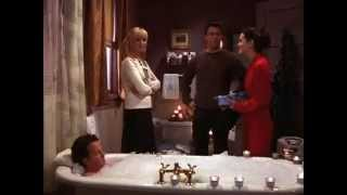 Friends- Everybody interrupts Chandler's bath