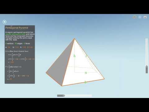 Surface Area and Volumn of Pentagonal Pyramid