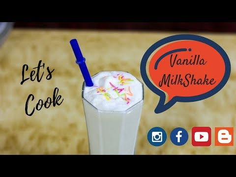 Vanilla Milkshake | How to make Vanilla Milkshake with Ice Cream | Milkshake recipe with Ice Cream