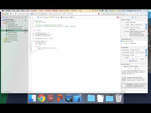 iOS Programming Swift Tutorial #7: Taking Notes Storage iPhone App with Xcode 6 Part 1