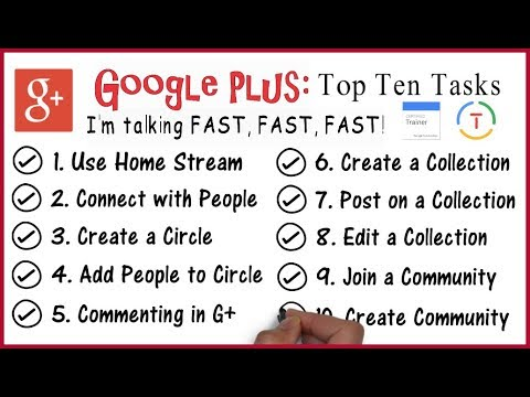 Google Plus 2018: Top 10 Tasks (Google Educator)