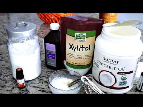 Natural Coconut Oil Teeth Whitening Paste + Scrub Powder