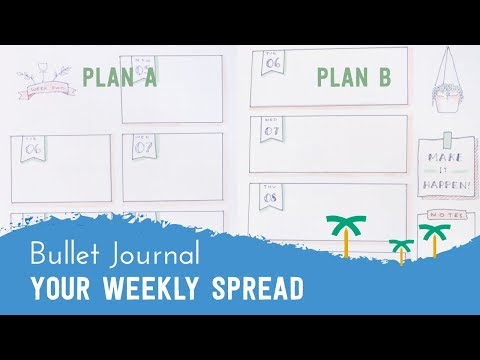 PLAN WITH ME - Bullet Journal Setup Weekly for the Month | Stationery Island