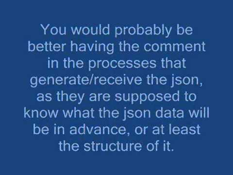 Can I comment a JSON file?