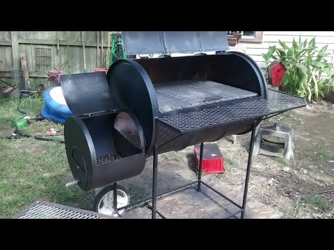 55 gallon barrel smoker build