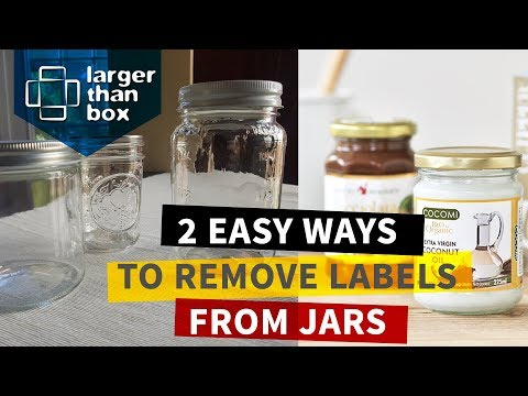 How to remove sticky labels (stickers) from glass jars and bottles - quick and easy