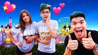 Download Surprising Little Bro with his DREAM GIRL at Disneyland! *first date* Video