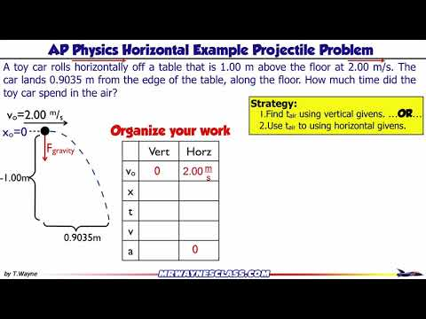 Horizontal Projectile Motion Example 2