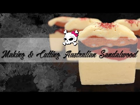Making & Cutting Australian Sandalwood Soap